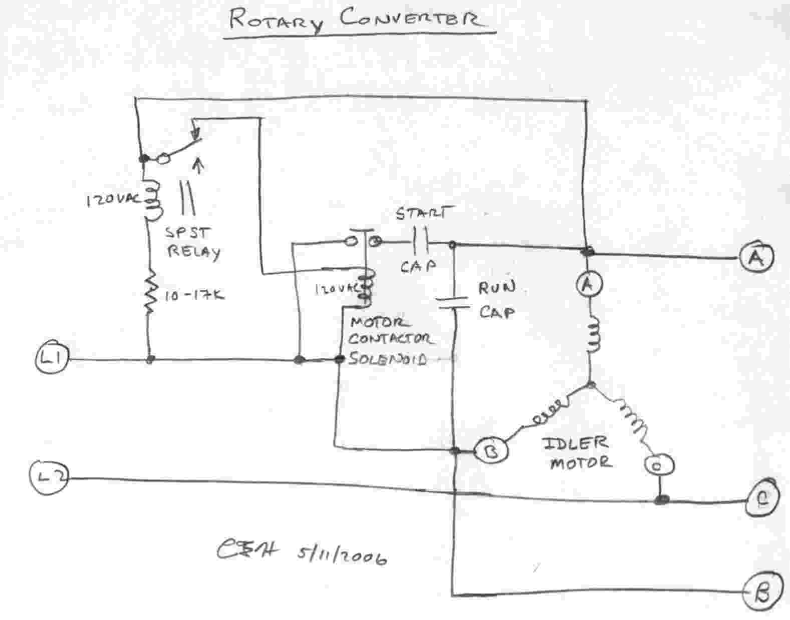 how to build rotary phase converter wiring diagram   50