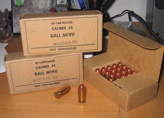 Prohibition era .45 bullet dating