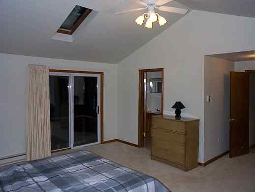 very large master bedroom with queen size bed bedroom also has it