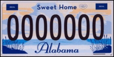 State of AL plate