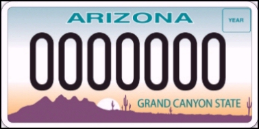 State of AZ plate