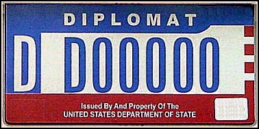 US Department of State plate