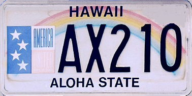 State of HI plate