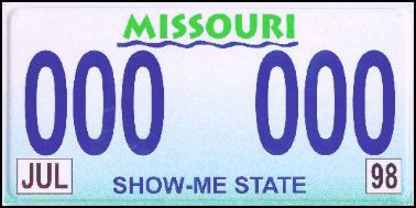 State of MO plate