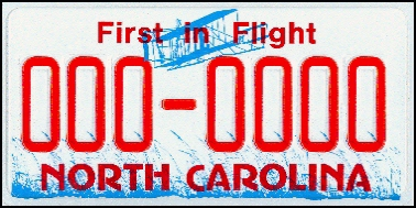 State of NC plate