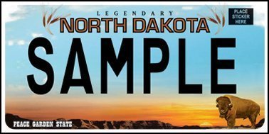 State of ND plate