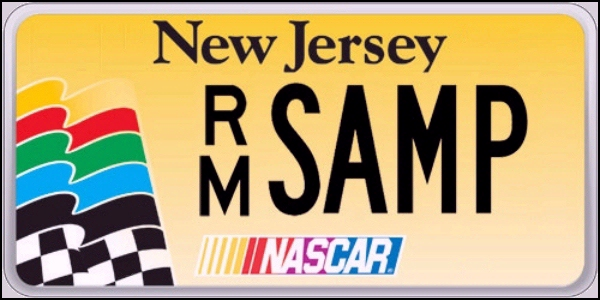 State of NJ plate