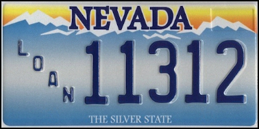 State of NV plate
