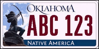 State of OK plate