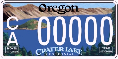 State of OR plate