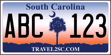 State of SC plate