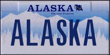 State of AK plate