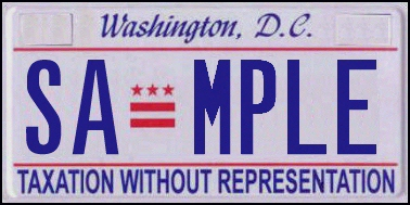 District of Columbia plate