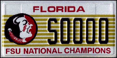 State of FL plate