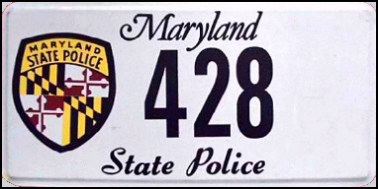 State of MD plate