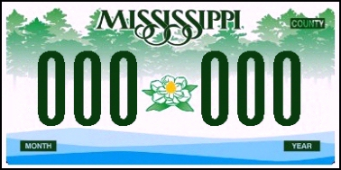 State of MS plate