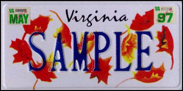 State of VA plate