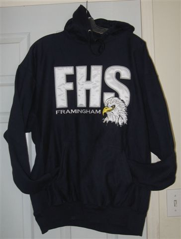 Fhs Blue Hooded Sweatshirt Small Only