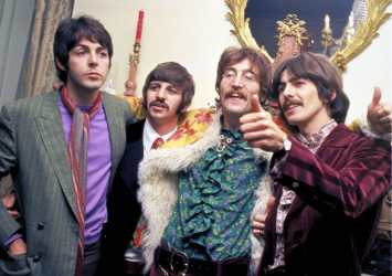 1967 Sgt Pepper Release Party All Four Beatles Had Moustaches For