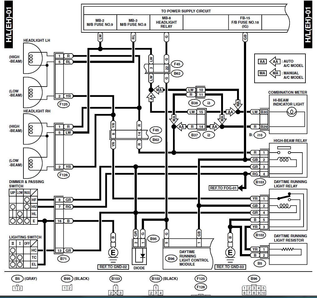 Charging System Diagram 98 Subaru Forester